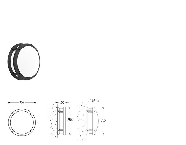 Itac Surface mounted luminaires
