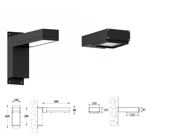 Light Linear PT Wall area luminaires