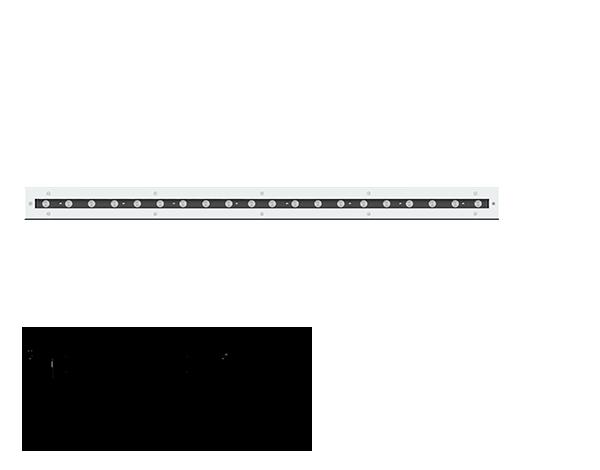 Lightalk RGBW Recessed wall luminaires