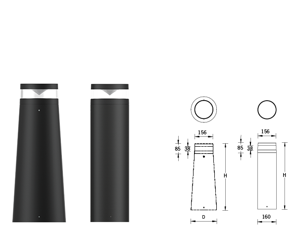 Lightwave Bollards