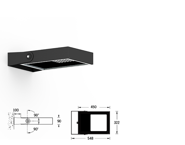 Mustang Wall area luminaires