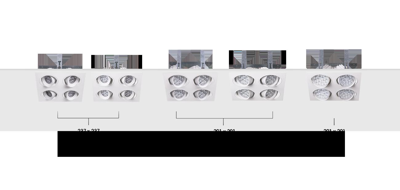 Norton Recessed Four Directional Luminaire