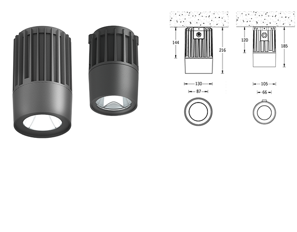 Odessa Surface exterior downlights