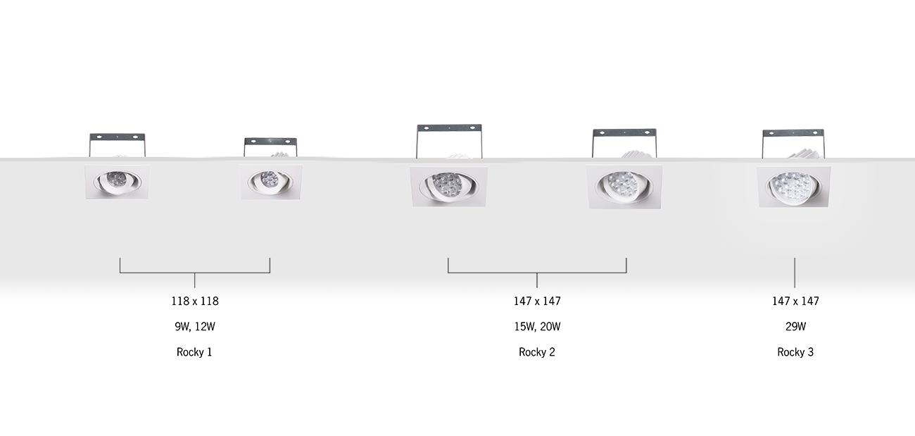 Rocky Recessed Single Directional Luminaire