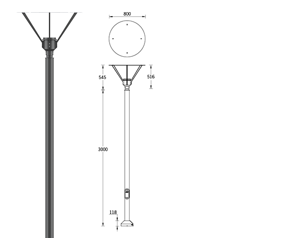Syndy Symmetrical indirect light post top luminaires