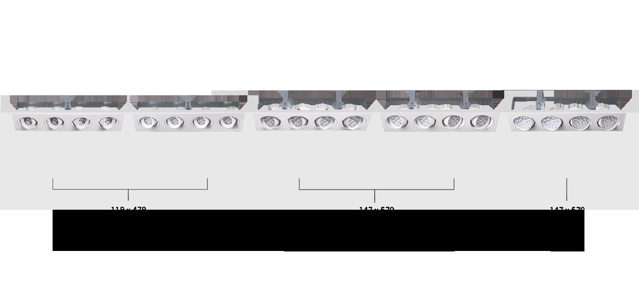 Tuscon Recessed Four Directional Luminaire