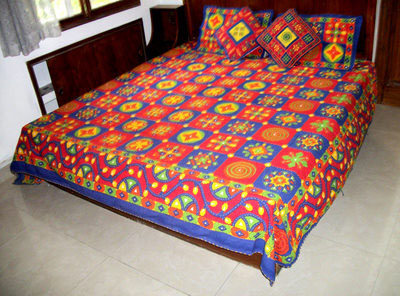 Hand Knitted Kantha Work Bed Sheets