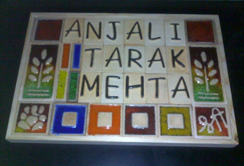 Ceramic Name Plates & Buy Ceramic Name Plates from R. R. Internationals Bhavnagar India ...