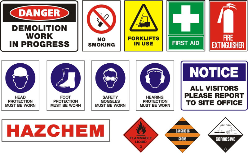 Industrial Safety Sign...