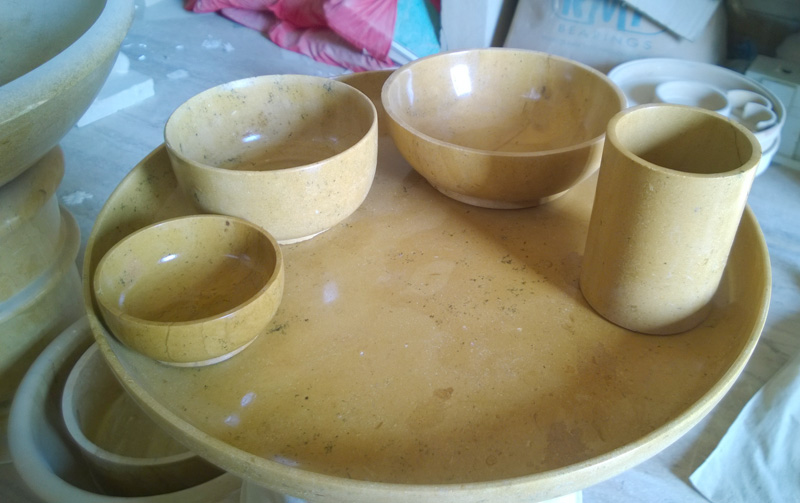 stone Crockery & Buy stone Crockery from Shakti Stone Art Industries Jaisalmer ...