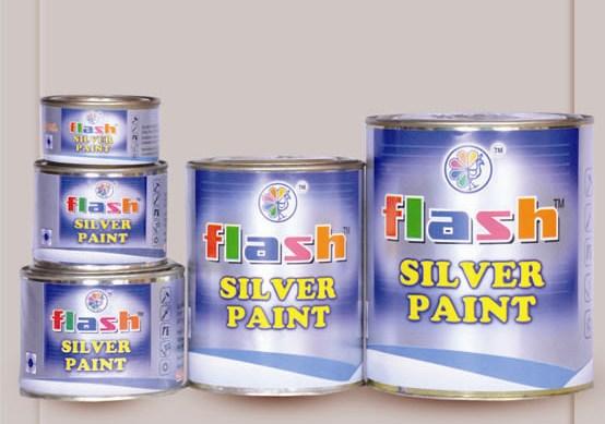 Silver Paint ((Dual Pack-Oil n Pas)