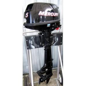 2008 Mercury 5 Hp 15 Inch Shaft Carbureted 4-stroke Tiller