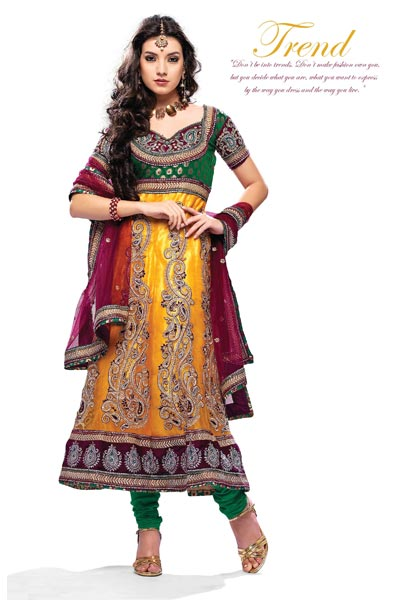 62d21adca4 Buy Party Wear Anarkali Suit from Kinjal Textile (India) Private ...
