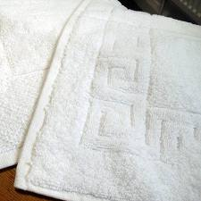 4 Side Greek Border Cotton Bath Mat (G-1 - Btl)