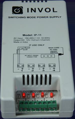 invol 4 channel cctv power supply (IP-11)