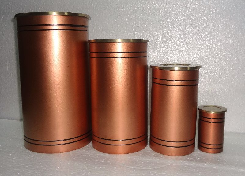 Cylindrical Metal Urn