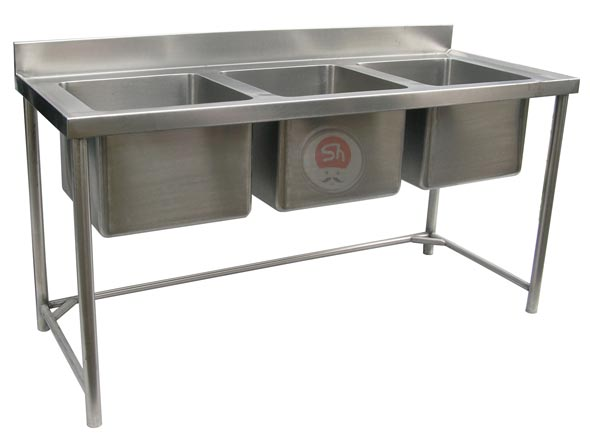 Stainless Steel 3 Sink Unit