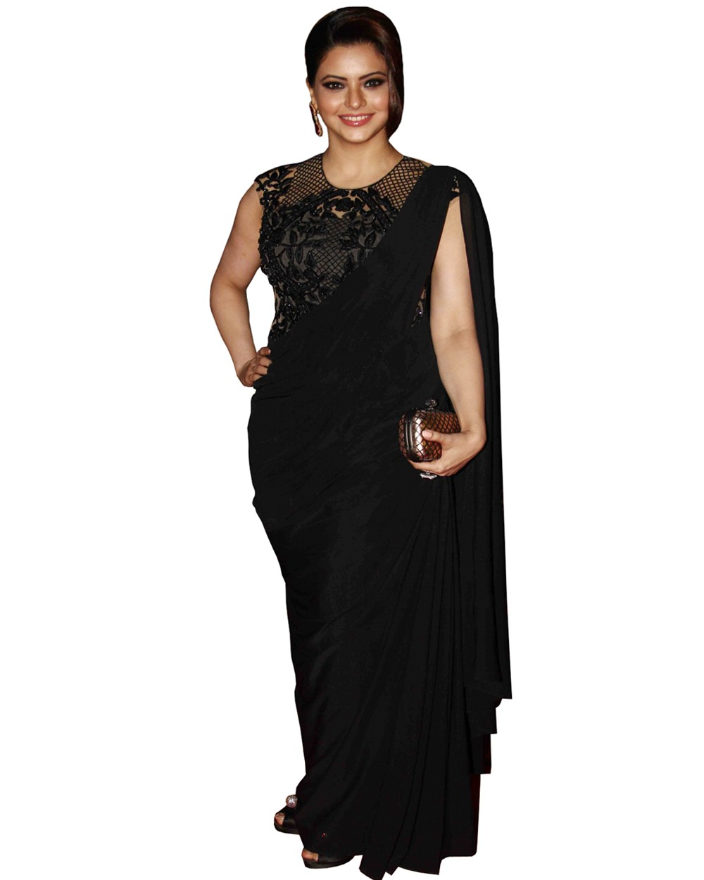 fb3e05fb1 Amna Shariff Black Designer Saree Manufacturer   Manufacturer from ...