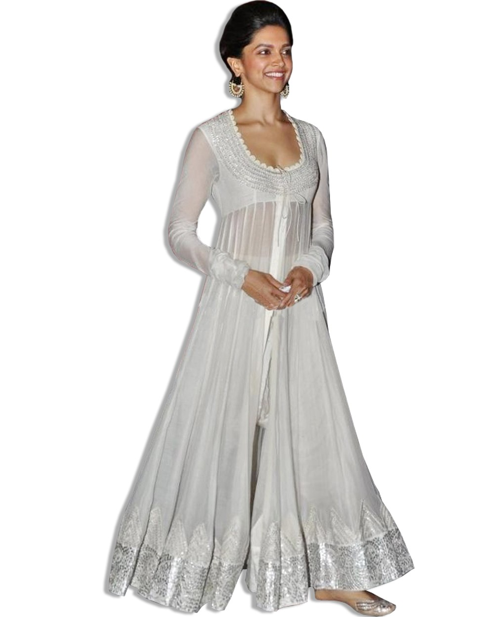 deepika padukone white floor length dress manufacturer