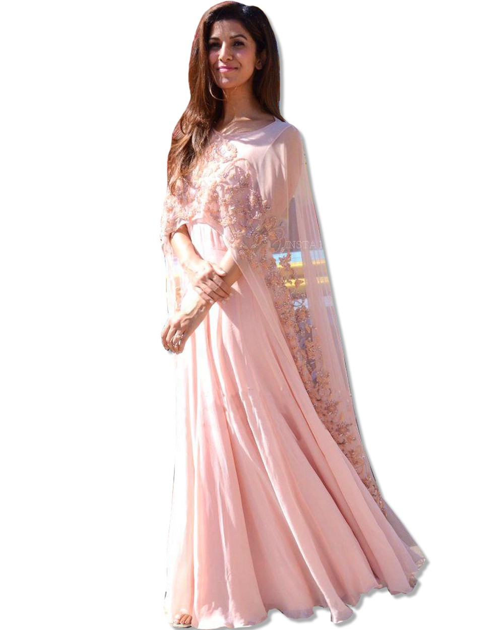 fec162f9c Embroidered Blush Floor Length Dress Manufacturer   Manufacturer ...