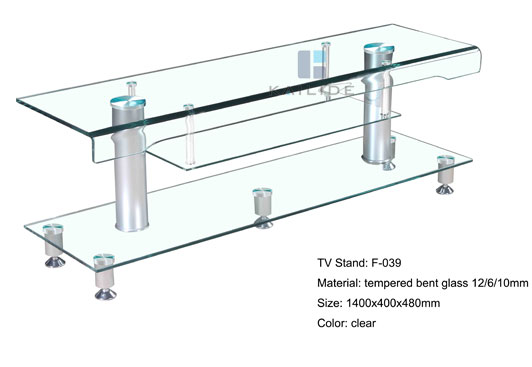 Clear Glass Tv Stand Table, Glass Table Stand For Tv