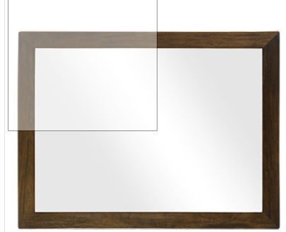 PALMER BALI BROWN MIRROR