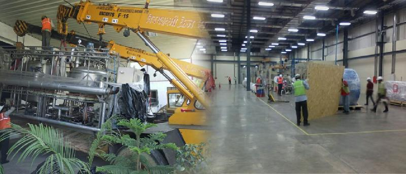 Plant and machinery shifting, installation & commissioning