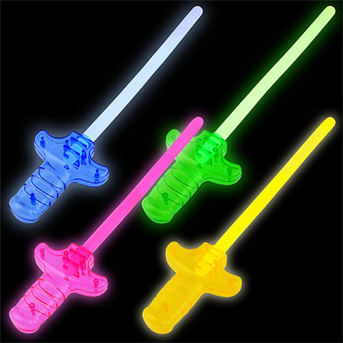 Play Glow Stick Swords