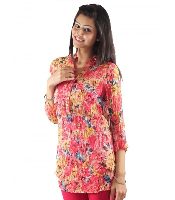 e01c4e4e61a4 Buy Floral Print Kurta Top from Uptown Galeria Clothing Pvt. Ltd ...
