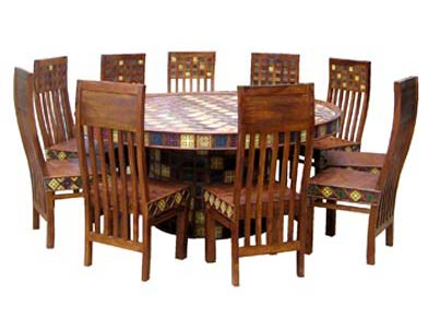 Exceptionnel Sheesham Wood Dining Table Set. U0027