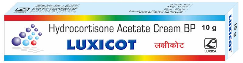 Buy Hydrocortisone Acetate from Luxica Pharma Inc