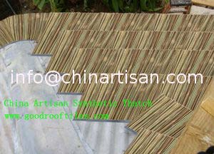 PE PVC Synthetic Thatch Alternative Roofing Products