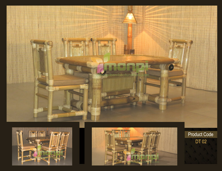 Bamboo Dining Table Set (DT 02)
