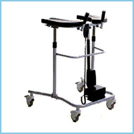 Medical Equipment Stabilis Walker with Electronic or Pneumatic Height Adjustment.