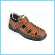 Mobility Medical Equipment LLC Fisherman Shoe Brown Leather