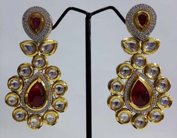 eac00c946 Kundan Earrings Manufacturer in Mumbai Maharashtra India by Nakshi ...