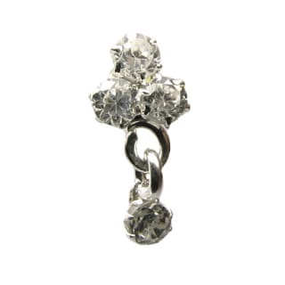 Buy Sterling Silver Cz Nose Pin Stud Screw From Karizma Jewels