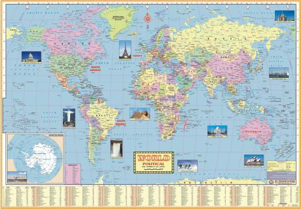 Large size wall maps manufacturer manufacturer from pune india large size wall maps gumiabroncs Gallery