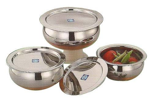 Buy Stainless Steel Bowl Set With Lid From Ss Exports