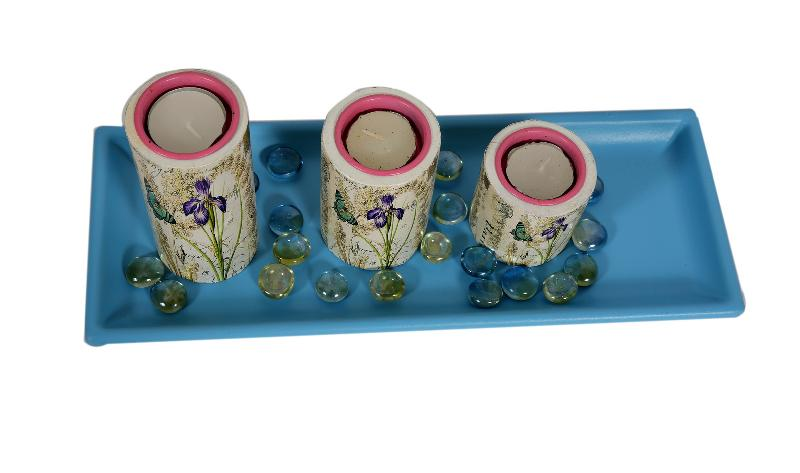 Pink Tealight Candle Holders