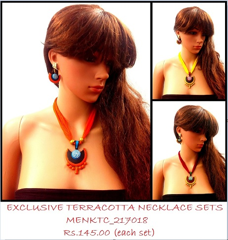 Light Weight  Terracotta Necklace sets for this SUMMER (MENKTC_217018 THS)