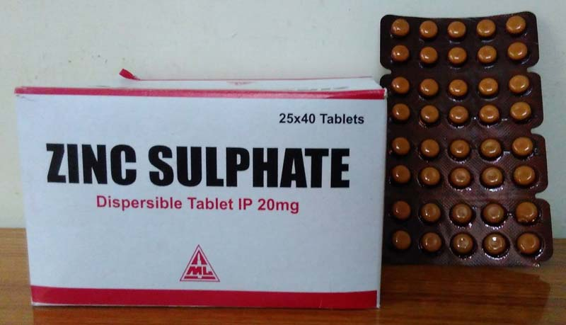 Zinc Sulphate 20 Mg Tablets Manufacturer In Indore Madhya Pradesh