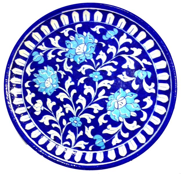 Buy Blue Pottery Decorative Plate from Aurea Blue Pottery