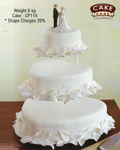 3 tier heart shaped wedding cakes