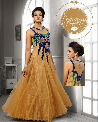 Blue Designer Party Wear Gowns Manufacturer In New Delhi Delhi India