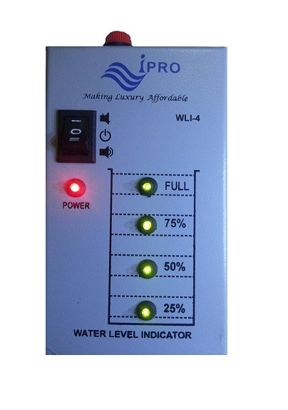 water level indicator The digital water level indicator is a digital electronic device that accurately displays the water level in a rainwater tank from 0 to 100% using a radio frequency cable sensor.