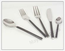 Stainless Steel Black Handle Cutlery