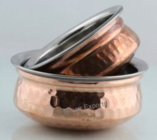 Stainless Steel Hammered Copper Serving Dish
