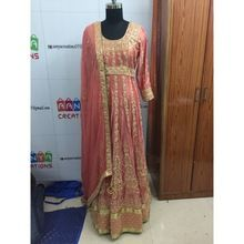 Pure Silk Heavy Anarkali Dress