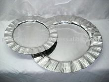steel bowl center bowl charger plate